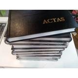 Libros De Actas Tapas Duras Color Negro Y Bordo Paqete X 5