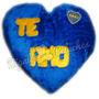 Corazón De Peluche Grande Personalizado Almohadón Boca River
