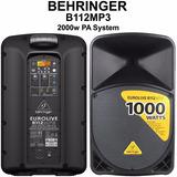 Bafle Potenciado B112 Mp3 Behringer Oferta Dj,sonido,karaoke