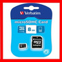Micro Sd Kingston O Verbatim 8 Gb + Adaptador A Sd - Clase 4