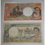 2 Billetes Rep. Francesa Tahiti 500 Y 1.000 Francos Rareza !