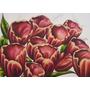 Cuadro Tulipanes Rojos Oleo S/ Bastidor 50 X 70 Cm