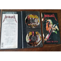 Metallica Live In Usa 94 2cd Estuche De Cuero Banzai Slayer