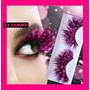 Pestañas Fantasia De Plumas X 2 C/pegamento Adhesivo Ojos