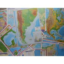 Lote 11 Mapas Físico Y Físico Político 35 X 50cm