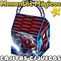 10 Cajitas Feliz Souvenirs Spiderman Hombre Araña + 7 Juegos