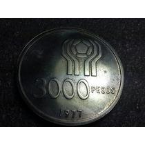 Moneda Argentina 3000 Pesos Mundial 78 Acuñación 1977