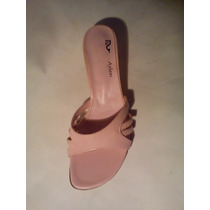 Excelentes Sandalias Color Rosa Taco Bajo ¡ Últimos Pares !