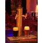 Pilon Chopera Cerveza Acero Inoxidale 4 Para Dos Canillas