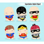 Kit Imprimible Superheroes Bebe Imagenes Clipart