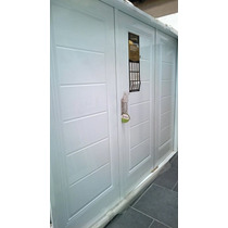 Porton Garage Nexo Deluxe Lineas Horizontales Blanco 240x200