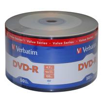 Dvd Virgen Verbatim Estampados -r 4.7 Gb Bulk 50 Unidades
