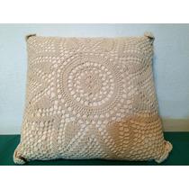 Almohadones Crochet Blanco 32 X 32