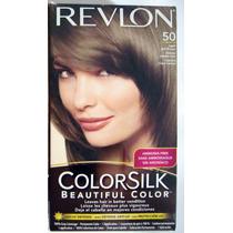 Revlon Colorsilk 50 Castaño Claro Ceniza X4 Un V Beautyshop