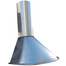 Campana Sin Salida 60cm Circular Acero Doble T Filtr Carbon