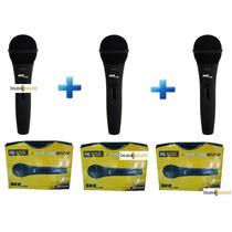 Pack X 3 Microfonos Skp Pro 92 Vocal Karaoke Profesional !