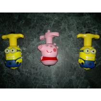 Trompo Con Luces Y Sonido George Pig Y Minions Importados