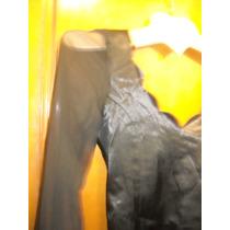 Vestido De Raso Elastizado Negro Mangas Transparentes Gotico