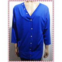 Elegante Remera Azul Talle Grande Xl Para Gorditas !!!