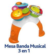 Mesa Chicco Banda Musical 3 En 1 - 8 Actividades Diferentes