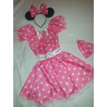 Disfraz Minnie Rosa Con Accesorios T 4/5. Artesanal