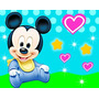Kit Imprimible Mickey Bebe Diseñá Tarjetas Y Mas