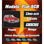 Remera Fiat Uno Scr, 100% Algodon Ac Estampas