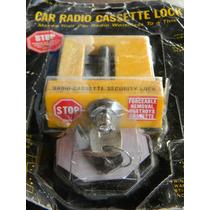 Antigua Traba Candado Radio Pasacassette Auto Stereo Llaves