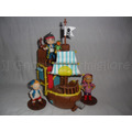 Barco Pirata De Jake - Adorno De Torta En Porcelana Fria