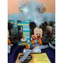 Mickey Primer Año Fibrofacil Con Gibreado+moño+pluma+central