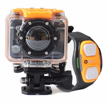 Camara Hp Action Cam Ac200w Y Pulsera Wifi Full Hd 1080 5mpx
