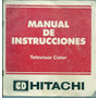 Manual De Instrucciones Televisor Color Cd Hitachi Retro