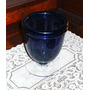 Transferir - Hermoso Florero Copa En Vidrio Tipo Murano Azul
