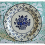 Plato De Pared Cerámico Country Blue