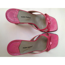 Zapatos De Taco Hush Puppies T 37. Color Rosa/fucsia