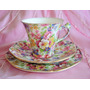 Trio De Té Art Deco Chintz James Kent England