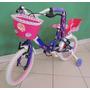 Bicicleta Rodado 14 De Nena Con Porta Muñeca