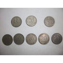 Monedas Antiguas Argentinas De 0.20 Ctv. De 1950 A 1956