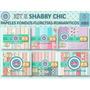 1 Kit Imprimible X 6 Sets Shabby Chic Candybar Fondos 15 Año