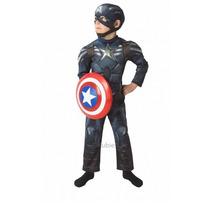 Capitan America Disfraz Deluxe Soldado Del Invierno Musculos