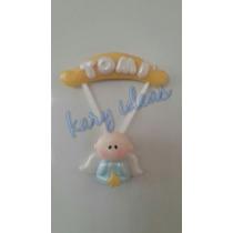 10 Souvenirs Angelitos Con Cartelito (imán)en Porcelana Fria