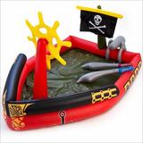 Pileta Pelotero Inflable Barco Pirata + Espadas + 50 Pelotas