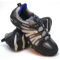 Zapatillas Olympikus Modelo Outdoor Direction Color Gris/azu