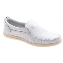 Zapato Náutico Cuero Blanco (base Blanca)