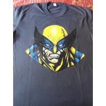 Remeras Artesanales, Wolverine, Pintada A Mano Talle Xl