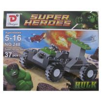 Hulk Y Vehiculo Para Armar De 37 Piezas