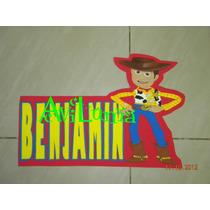 Cartel De Woody Con Un Nombre Toy Story