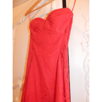 Vestido Rojo Las Oreiro Espectacular!! Red Sale!!