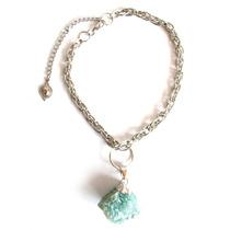 Collar Cadena Chocker Delta Corto Piedra Multicolor Mujer