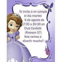 Princesita Sofia Tarjetas Personalizadas Para Imprimir